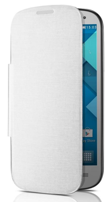 Pouzdro na mobil ALCATEL ONETOUCH flip 5036D pro ONETOUCH POP C5 bílé e900698d23c