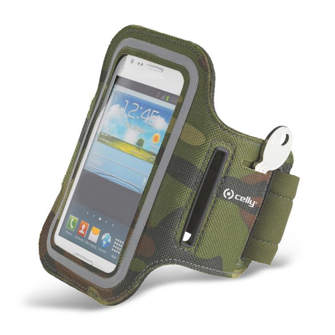 Pouzdro na mobil sportovní Celly Armband 3XL zelené  242e11f6e76