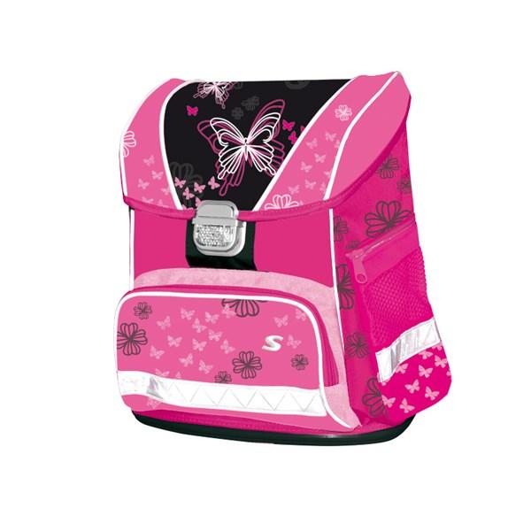 Aktovka školní Stil Romantic černá růžová  4248d32971