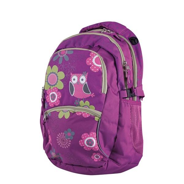 83b14039f48 Batoh školní Stil teen Owl zelené růžové fialové