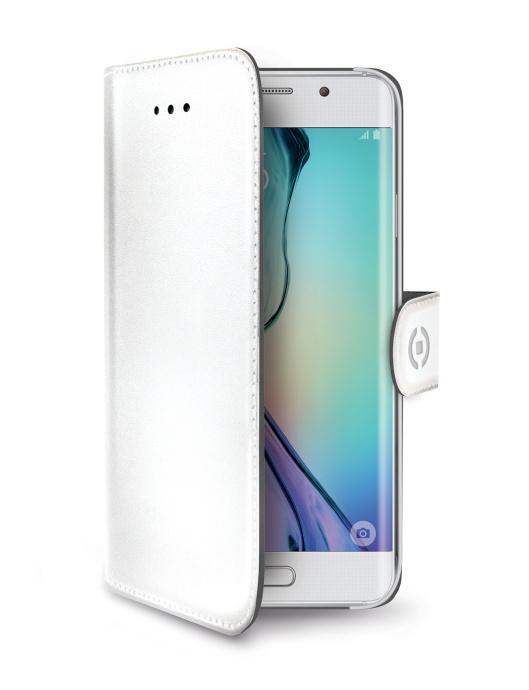 Pouzdro na mobil flipové Celly Wally pro Samsung Galaxy S6 Edge bílé ... cdeb058d8a8