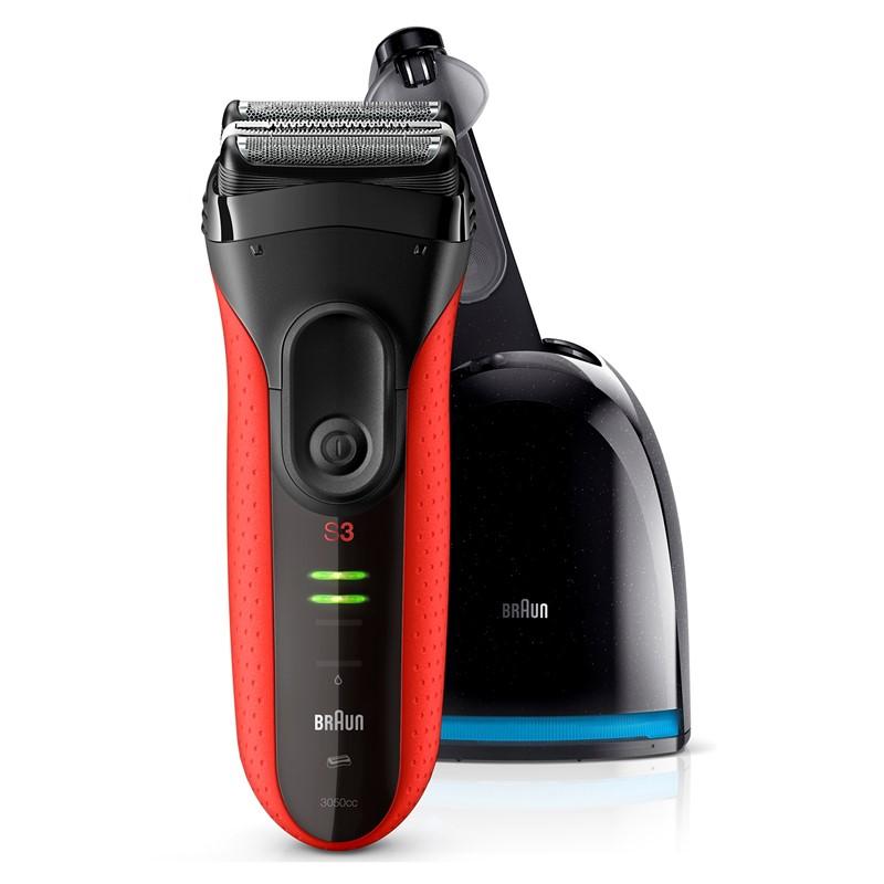 Holicí strojek Braun Series 3-3050 Clean Charge černý červený  26bf3ae3fbb