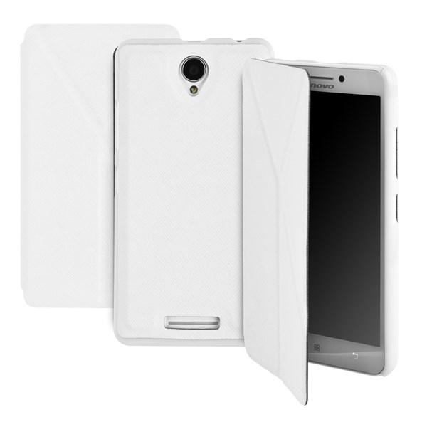 Pouzdro na mobil flipové GoGEN pro Lenovo A5000 bílé  b21d4d2a81a