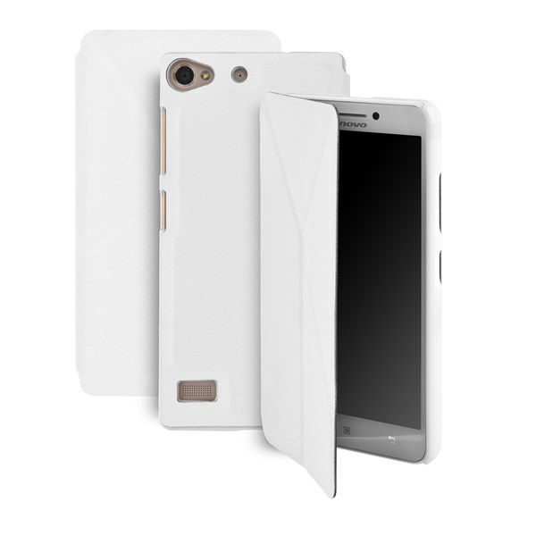 Pouzdro na mobil flipové GoGEN pro Lenovo VIBE X2 bílé  25cd2093c9a