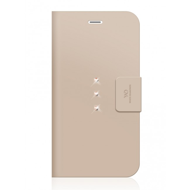 Pouzdro na mobil flipové White Diamonds Crystal Wallet pro iPhone 6 Plus    6s Plus zlaté 8511e5c3d52