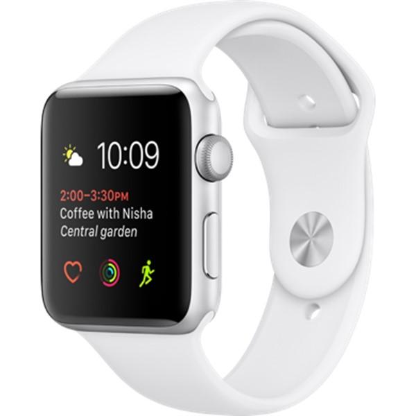 Chytré hodinky Apple Watch Series 1 42mm pouzdro ze stříbrného hliníku –  bílý sportovní řemínek 77e074ce648