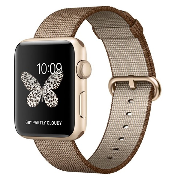 b3241aed4fe Chytré hodinky Apple Watch Series 2 42mm pouzdro ze zlatého hliníku –  kávově karamelově hnědý