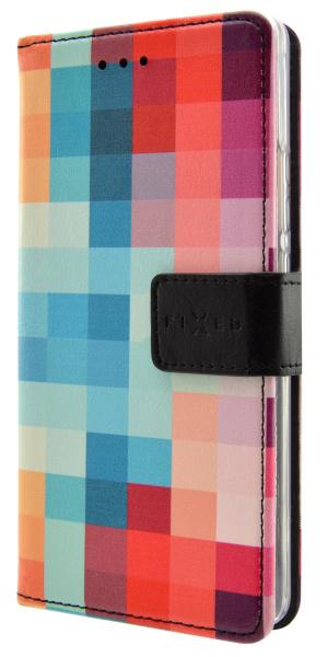 Pouzdro na mobil flipové FIXED Opus pro Huawei Y3 II - dice  a0d8f248257