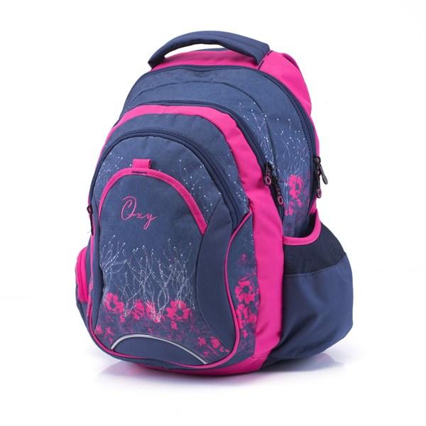 8470798fb7a Batoh školní P + P Karton Anatomický batoh OXY Fashion Pink Flowers ...