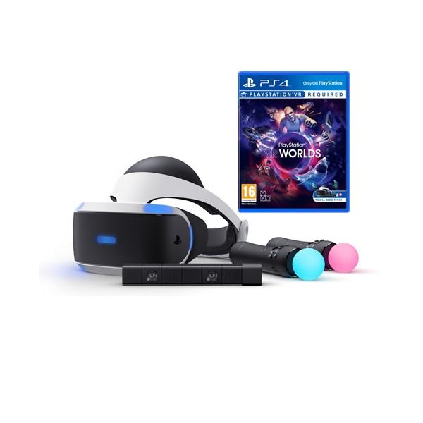 ab08dc20b Brýle pro virtuální realitu Sony PlayStation VR + Kamera + MOVE Twin Pack + VR  WORLDS