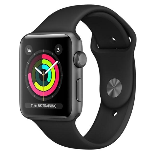 Chytré hodinky Apple Watch Series 3 GPS 42mm pouzdro z vesmírně šedého  hliníku - černý sportovní řemínek ccc62a7aa5