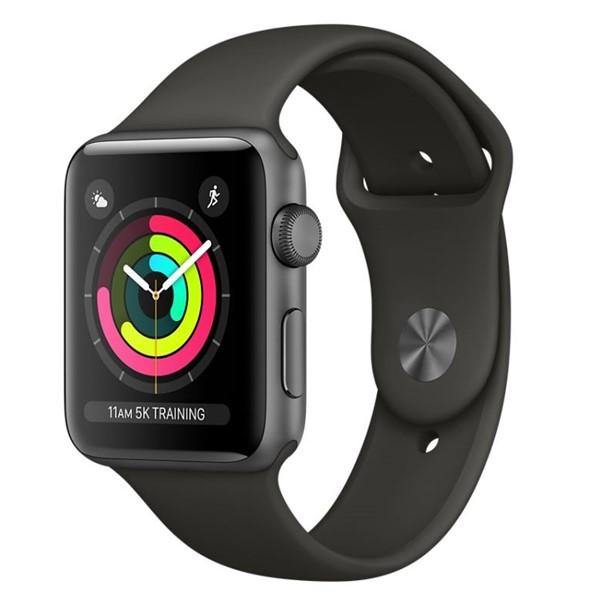 56675981992 Chytré hodinky Apple Watch Series 3 GPS 42mm pouzdro z vesmírně šedého  hliníku - šedý sportovní řemínek
