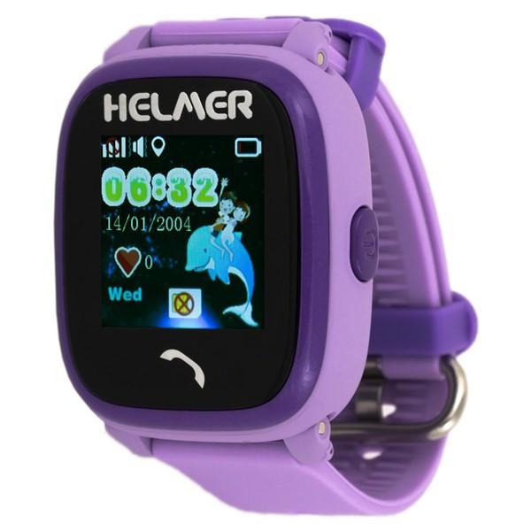 Chytré hodinky Helmer LK 704 dětské s GPS lokátorem fialový  943869d1936