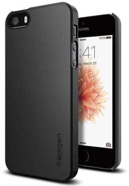 Kryt na mobil Spigen Thin Fit Apple iPhone SE 5s 5 černý  9ac245717f1