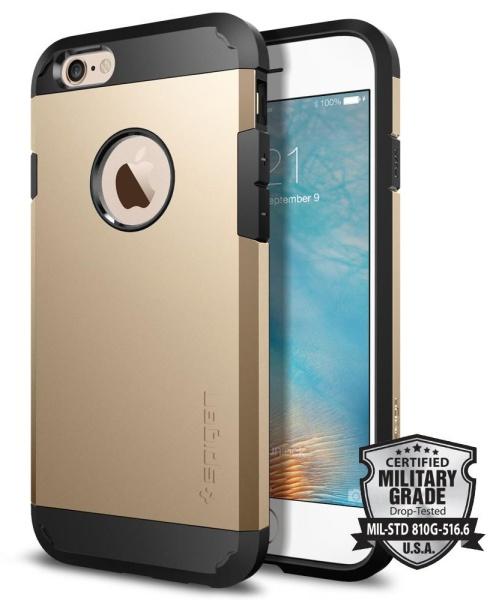 Kryt na mobil Spigen Tough Armor pro Apple iPhone 6 6s - champagne gold 854e83085bc