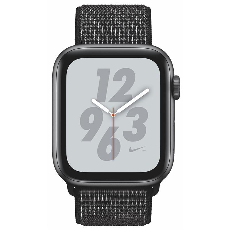 Chytré hodinky Apple Watch Nike+ Series 4 GPS 44mm pouzdro z vesmírně  šedého hliníku - černý provlékací sportovní řemínek Nike 8926b1bc77