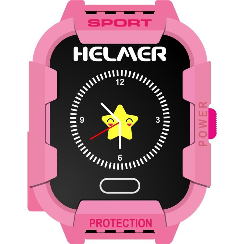 3ae196f23 Chytré hodinky Helmer LK 708 dětské s GPS lokátorem růžový | EURONICS