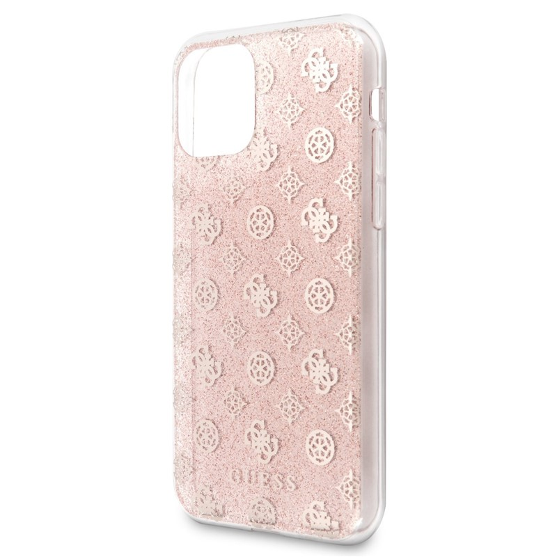 Kryt na mobil Guess 4G Peony Glitter pro Apple iPhone 11 Pro Max růžový | EURONICS.cz