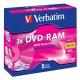 Verbatim DVD-RAM  4,7GB 3x jewel box, 5ks