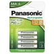 Panasonic AAA, HR03, 750mAh, blistr 4ks
