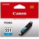 Canon CLI-551 C, 304 stran - originální modrá