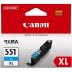 Canon CLI-551XL C, 660 stran - originální modrá