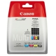 Canon CLI-551, 4x 7ml - originální černá/červená/modrá/žlutá