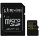 Kingston MicroSDHC 16GB UHS-I U1 (90R/45W) + adapter