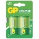 GP Greencell D, R20, blistr 2ks
