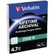 Verbatim DVD-R M-Disc 4,7GB, 4x, printable, slim box, 3ks