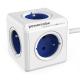 Powercube Extended, 5x zásuvka, 1,5m bílý/modrý