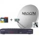 Mascom MS-2350/80MBL+M7, příjem 2 družic s kartou Skylink
