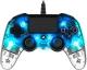 Nacon Wired Compact Controller pro PS4 modrý/průhledný