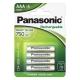 Panasonic Evolta AAA, 800 mAh, Ni-MH, blistr 4ks