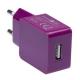 Connect IT COLORZ USB, 1A fialová