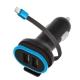 Forever CC-02, 2x USB, lightning kabel černý