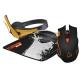 Canyon Corax + podložka + headset černá/oranžová