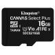 Kingston Canvas Select Plus MicroSDHC 16GB UHS-I U1 (100R/10W)