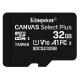 Kingston Canvas Select Plus MicroSDHC 32GB UHS-I U1 (100R/10W)
