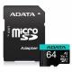 ADATA Premier Pro MicroSDXC 64GB (100R/80W) + adaptér