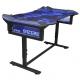 E-Blue 135x78,5 cm, RGB podsvícení, výškově nastavitelný, s podložkou pod myš černý/modrý