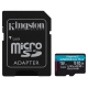 Kingston Canvas Go! Plus MicroSDXC 512GB UHS-I U3 (170R/90W) + adaptér