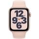 Apple Watch SE GPS 40mm pouzdro ze zlatého hliníku - pískově růžový sportovní náramek