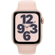 Apple GPS 44mm pouzdro ze zlatého hliníku - pískově růžový sportovní náramek
