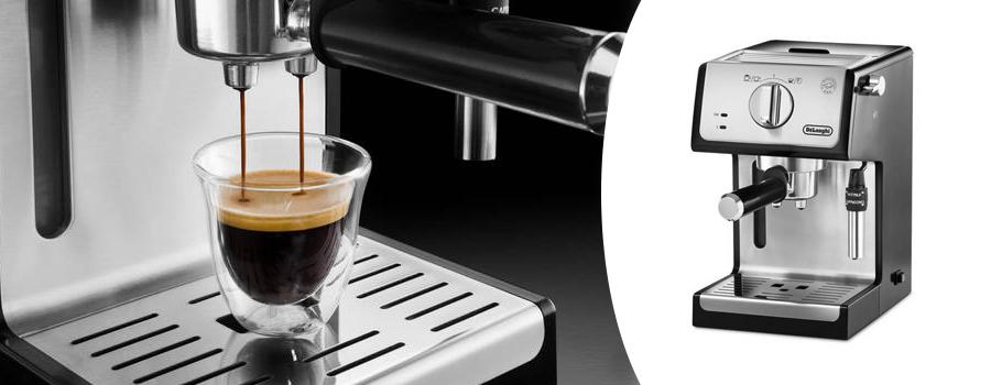 b1ef26439 Pořiďte si designové pákové espresso DeLonghi ECP35.31 v nerezovém  provedení, se kterým plně projevíte své baristické umění a to nejen při  přípravě ...