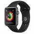 Chytré hodinky Apple Watch Series 3 GPS 38mm pouzdro z vesmírně šedého hliníku - černý sportovní řemínek