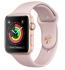 Chytré hodinky Apple Watch Series 3 GPS 38mm pouzdro ze zlatého hliníku - pískově růžový sportovnm řemínek