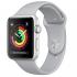 Chytré hodinky Apple Watch Series 3 GPS 42mm pouzdro ze stříbrného hliníku - mlhově šedý sportovní řemínek