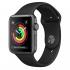 Chytré hodinky Apple Watch Series 3 GPS 42mm pouzdro z vesmírně šedého hliníku - černý sportovní řemínek