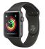 Chytré hodinky Apple Watch Series 3 GPS 42mm pouzdro z vesmírně šedého hliníku - šedý sportovní řemínek